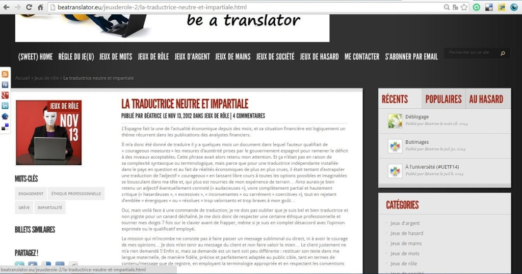 La traductrice neutre et impartiale_capture pour billet